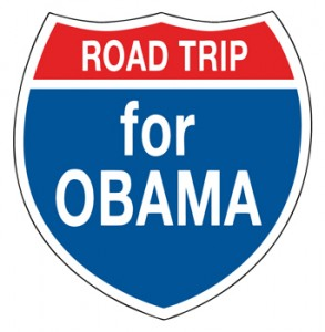 Road Trip for Obama Logo